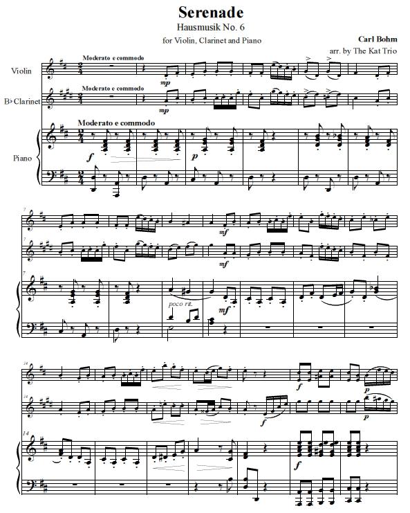 Bohm Serenade Score