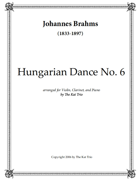 Brahms Hungarian Dance No.6