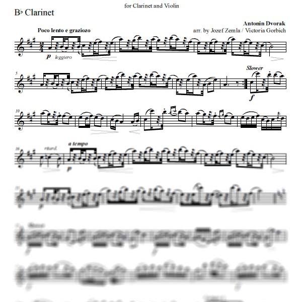 Dvorak Humoresque Duo Clarinet Part