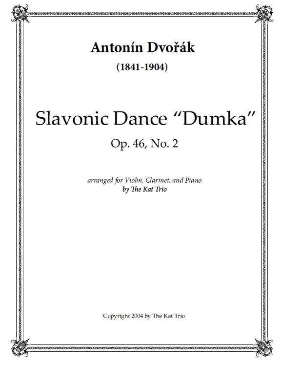 Dvorak Slavonic Dance Dumka