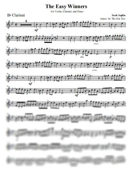 Joplin Easy Winners Clarinet Part