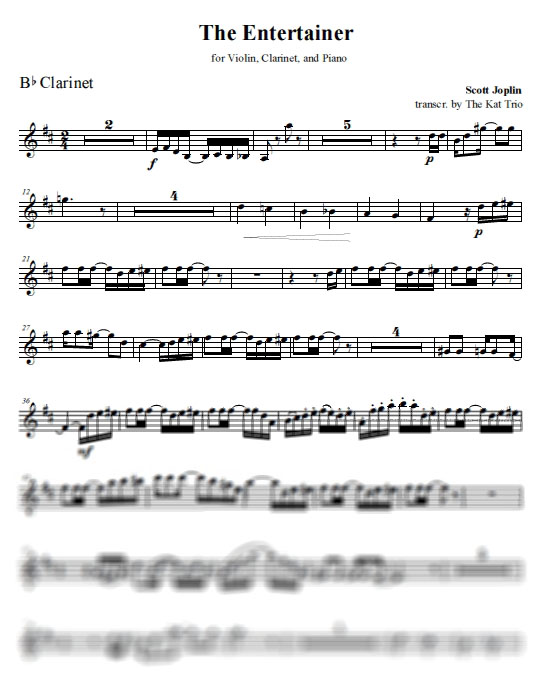 Joplin Entertainer Clarinet Part
