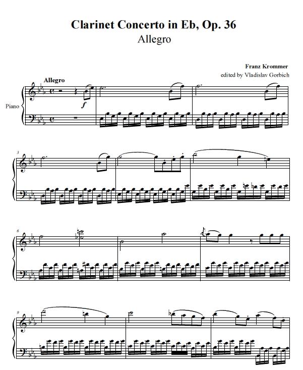 Clarinet Concerto Op.36