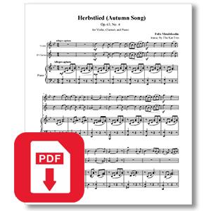 Mendelssohn Herbstlied