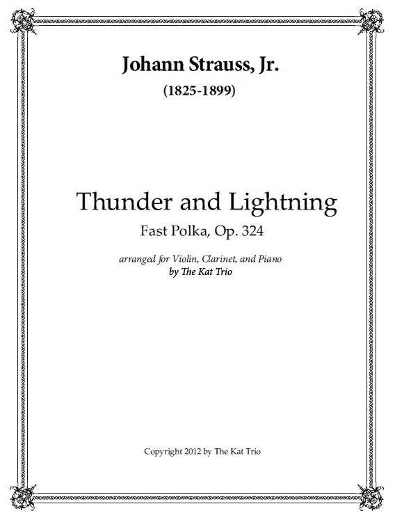 Strauss Polka Thunder and Lightning