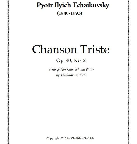 Tchaikovsky Chanson Triste