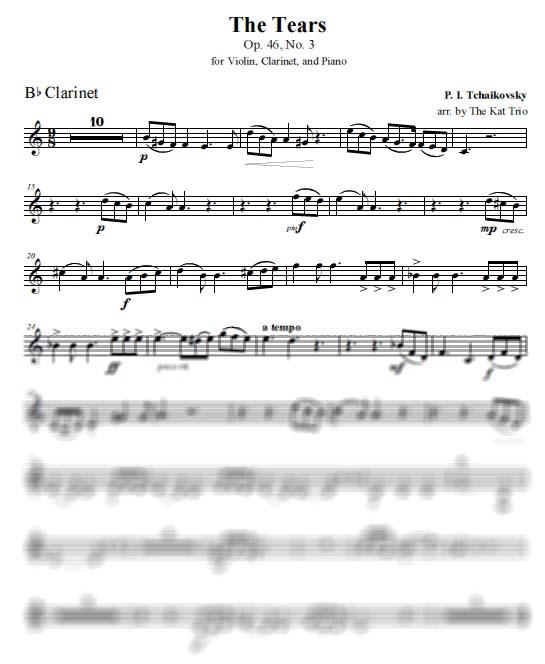 Tchaikovsky Tears - Clarinet
