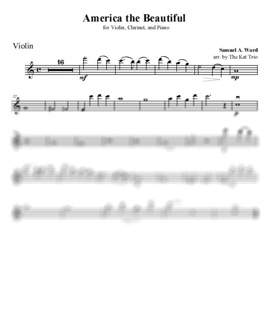 Ward America the Beautiful - Violin