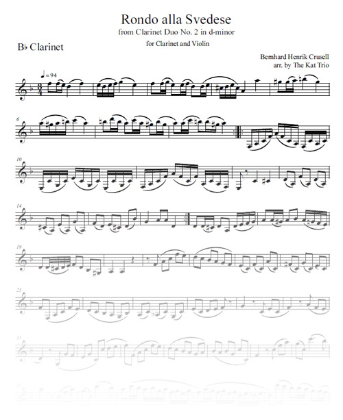 Crusell Rondo Clarinet