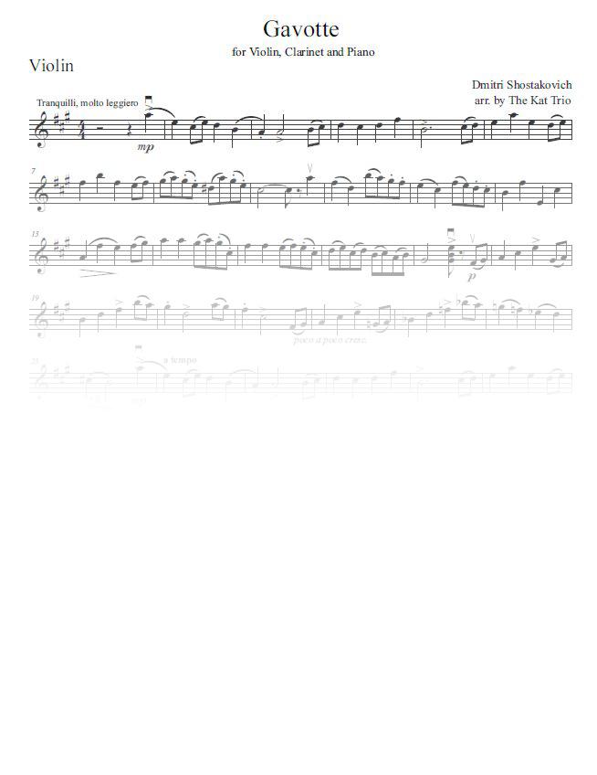 Shostakovich Gavotte violin